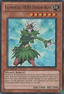 Yu-Gi-Oh! - Elemental HERO Poison Rose (LCGX-EN036) - Legendary Collection 2 - Unlimited Edition - Rare