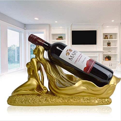 Esculturas Decoración, Interior de la casa Estatuas Escultura Figura Coleccionables Figuras coleccionables Artesanía Regalo Estante de Vino Resina Hermoso Estante de Vino Gabinete de Vino