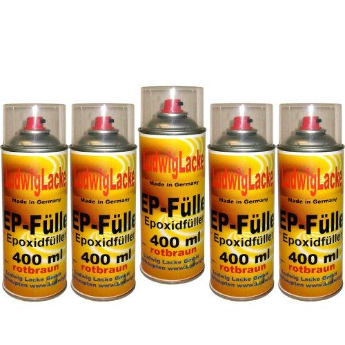 5 EP Füller Spray Rotbraun 400 ml je Spraydose