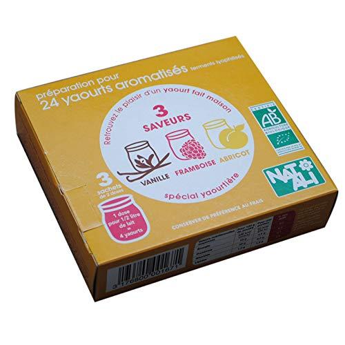Nat-Ali - Bio - Ferments Lyphilisés pour Yaourts Aromatises 36 g (6 doses de 6g)