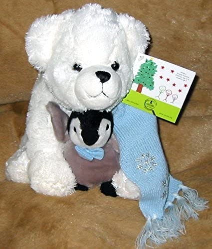 St. Jude Toby and Tux 12 Plush Bear and Penguin by St Jude's
