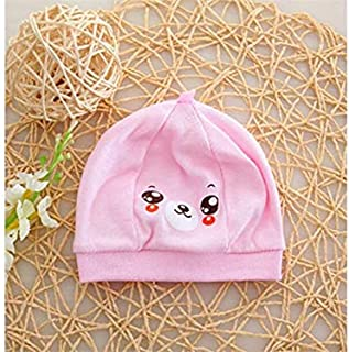 Baby Decoration Hat Infant Bear Cotton Hat Baby Hedging Cap Soft Fetal Cap Newborn Hat for 0-3 Months(Pink) Cute Cap (Color : Pink, Size : 32cm)