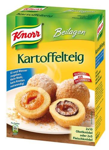 Knorr Beilagen Kartoffelteig (für 2 x 10 Obstknödel oder 2 x 5 Fleischknödel) - 280gr - 4x