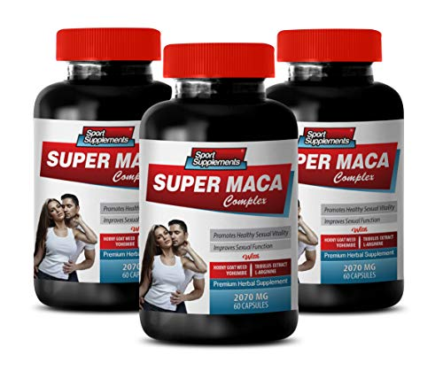 Male Enhancing Pills Last Longer in Bed - Super MACA Complex - Premium Herbal Supplements - yohimbe Supplement for Men - 3 Bottles 180 Capsules