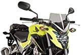 16-19 HONDA CB500F: Puig Naked Generation Sport Windscreen (SMOKE)