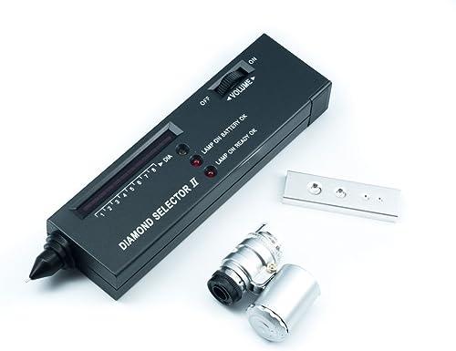 QUMOX Portable Diamond Selector II V2 Gemstone Tester Tool + 60X LED Loupe