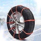 QINGJIA 10pcs / set de ruedas de automóviles de emergencia neumático de nieve antideslizante cadena for neumáticos de la bici del coche del neumático rueda de neumático de nieve Cadenas de piezas Read
