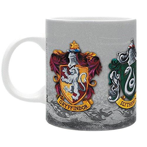 Harry Potter Keramische mok - Hogwarts wapen - Gryffindor - Huffellepuff - Slytherin - Ravenclaw - geschenkdoos