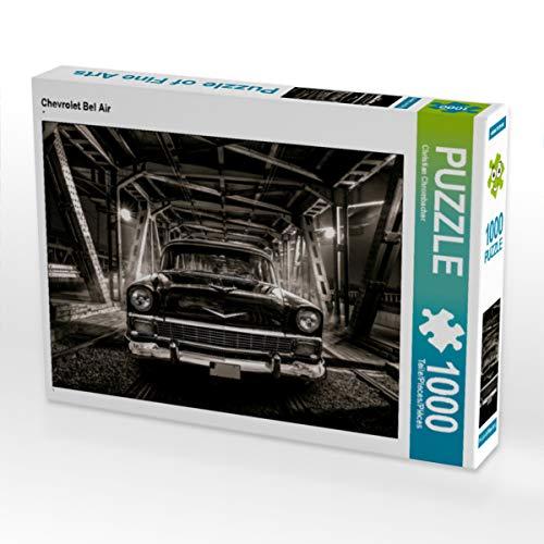 CALVENDO Puzzle Chevrolet Bel Air 1000 Teile Lege-Größe 64 x 48 cm Foto-Puzzle Bild von Dusko Krstic-Strobel