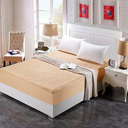NTtie Protector de colchón/Cubre colchón Acolchado de Fibra antiácaros, Transpirable, Colcha de una Pieza de algodón Grueso para Hotel