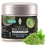 WAKABA - Polvo orgánico de 30 g [Ceremonial Grade]Producido por Matcha Café Wakaba – Auténtico matcha orgánico (DE-ÖKO-013) , sin aditivos, vegano, puro natural-Perfecto para el Matcha puro