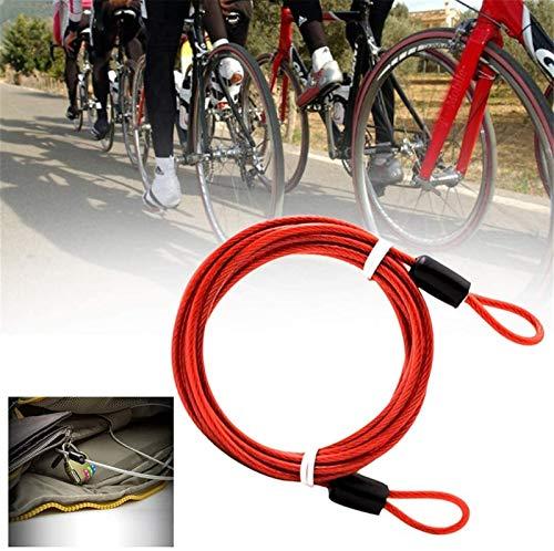 First Choice 2 Meter Doppelschleifen Fahrradkettenschloss Leichte Motorräder Diebstahlsicherungsstahlverdrahtung Radfahren Autoabdeckung Professionelle plm46 (Color : Black, Size : One Size)