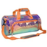 Wildkin Kids Dance Bag for Boys and Girls, Ideal Size for Ballet Class and Dance Recitals,100% Polyester Fabric Laminated Dance Duffel Bags Measures 17 x 8.5 x 8.5 Inches, BPA-Free (Orange Shimmer)