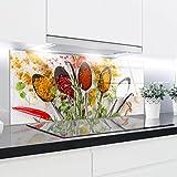 Crédence en verre trempé résistant à la chaleur renforcé décoratifs–125x 50cm–4mm d'épaisseur–Parfait Derrière à gaz, EN CÉRAMIQUE et à induction–Facile à nettoyer et à suspendre