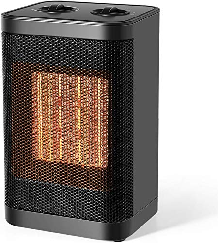 Ceramic Space Heater, 750W/1500W Portable Desk Small Quiet Fast Heating Fan with Adjustable Thermosta for Office Desktop and Home, Electric Heater Ceramic Heater Space