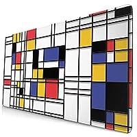 マウスパッド Pietro Mondrian ゲーミングマウスパッド デスクマット ゲーミングpc パソコンデスク 大型 布製 ラバーベース 防水 安定性 ゲーミング 学校 寮 会社 オフィス プレゼント お手入れ簡単 かわいい おしゃれ シンプル 750mm*400mm*3mm