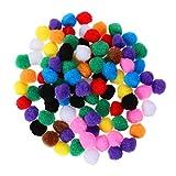 SUPVOX 100 stücke Pompons Multicolor Fuzzy Pom Poms Bälle