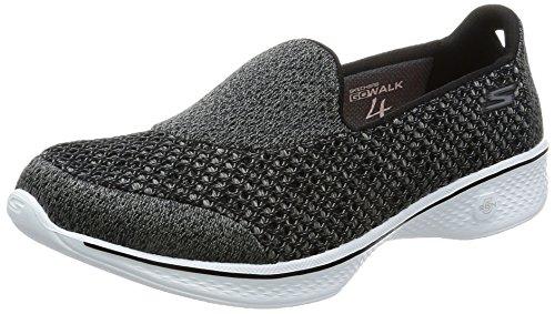 Skechers Women's Gowalk 4 Kindle Slip On Walking Shoe,Black/White,US 8 W