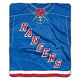 The Northwest Company NHL New York Rangers 'Jersey' Raschel Throw Blanket, 50' x 60' , Blue