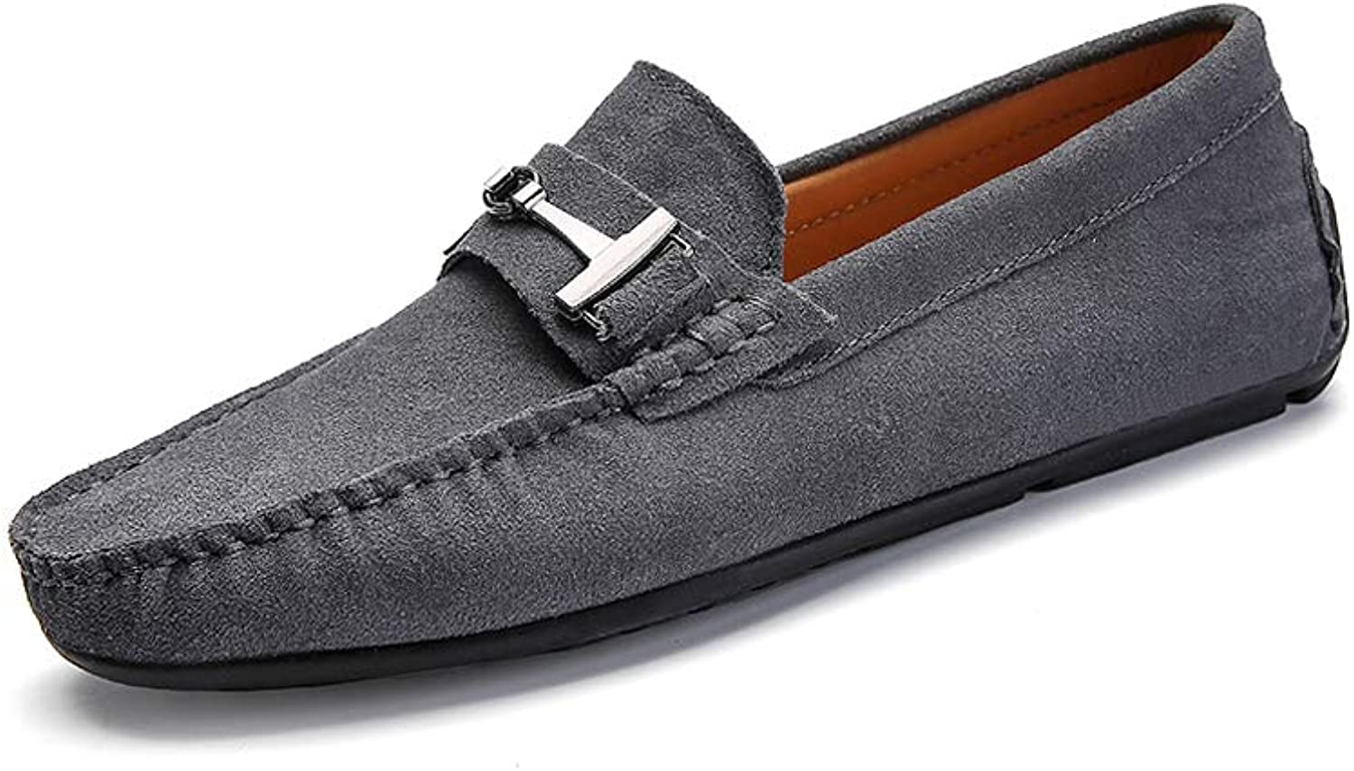 Men's Non-slip Leisure Driving shoes Cozy Breathable Hasp Flat shoes Soft Sleeve Loafers