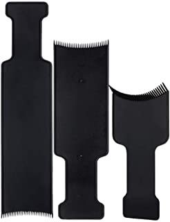 BinaryABC Flat Top Balayage Board Comb Paddle Board Comb Hair Highlighting Board Hair Colour Board,3Pcs