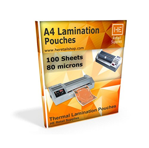 A4 Lamination Sheets Pouch 80 micron, 225x310mm, for Hot Laminator, 100 sheets