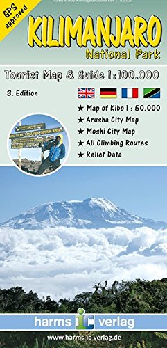 Kilimanjaro National Park: Trekking Karte 1:100.000: Harms.53 (Afrikanische Nationalparks)