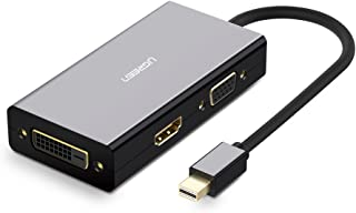 يوجرين -محول ميني DP ذكر الي 3.0 مداخل DVI HDMI VGA انثي وصلة ميني DP متوافق مع ماك بوك برو الهواء، وآيماك، سطح Pro3 Pro4،...