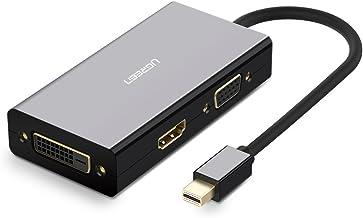 يوجرين -محول ميني DP ذكر الي 3.0 مداخل DVI HDMI VGA انثي وصلة ميني DP متوافق مع ماك بوك برو الهواء، وآيماك، سطح Pro3 Pro4، وجوجل جهاز Chromebook ،PC، العارض - أسود