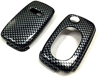 Chromesupply Carbon Fiber Print Hard Plastic Keyless Remote Key Fob Flip Key Protection Case Cover for Audi A3 8L A4 B5 B6 TT MK1 A6 C5