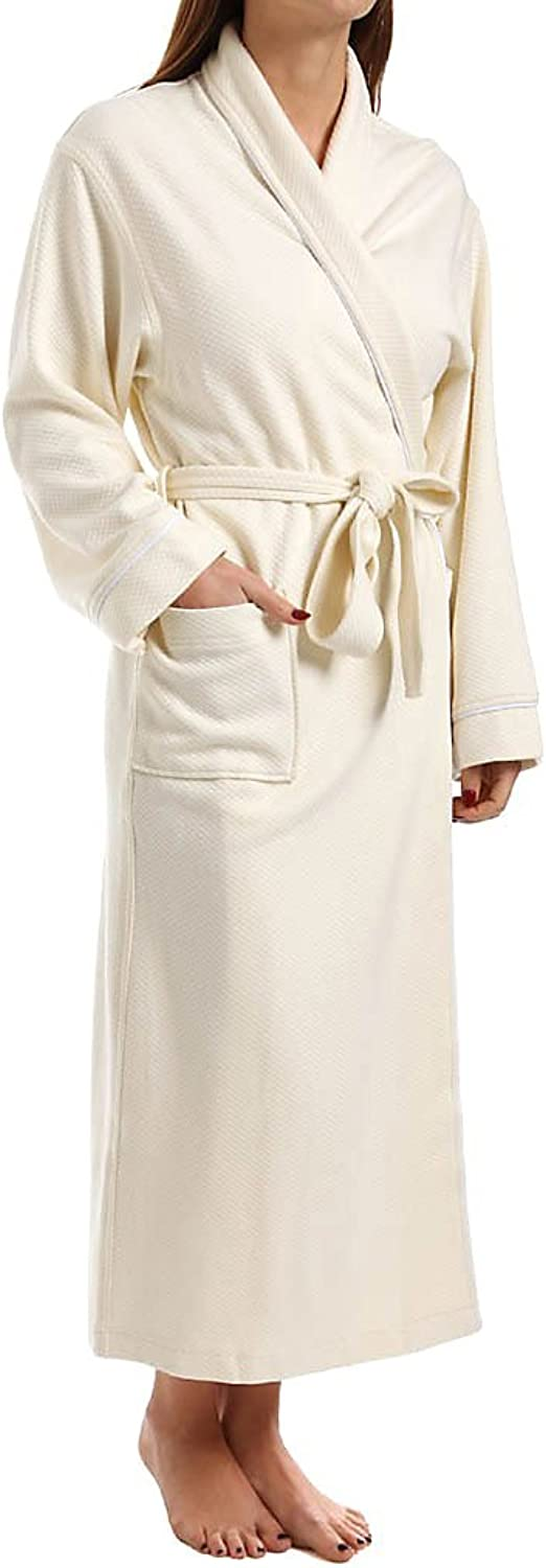 KayAnna Women's Quilted Modal Shawl Collar Robe
