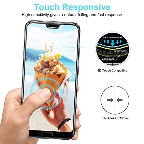CRXOOX [3 Stück] Panzerglas Schutzfolie für Huawei Honor 10, [Anti-Kratzer/Anti-Öl] [Einfache Installation] [Blasenfrei] [3D Touch Kompatibel/9H Härte] - für Huawei Honor 10 - Transparent - 6