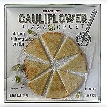 Trader Joe s Frozen Cauliflower Pizza Crust  Pack of 8  - 6 Servings per Container - Gluten-Free - Thin and Crispy Traditional Style