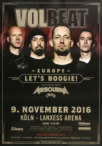 Volbeat - Let`s Boogie, Köln 2016 » Konzertplakat/Premium Poster | Live Konzert Veranstaltung | DIN A1 «