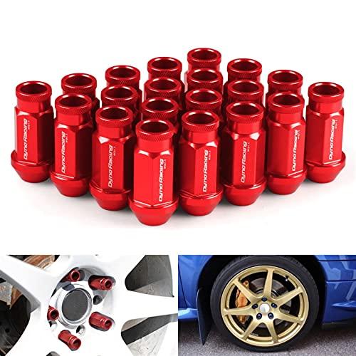 Haoshan Tuercas de la rueda de las carreras de aluminio de Billet M12x1.5 / M12x1.25 para HONDA PARA FORD PARA TOYOTA 20PCS / SET (Color Name : Gold)