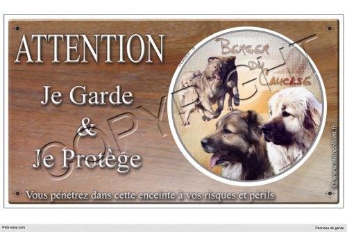 Pets-Easy.com Panneau Chien ou Plaque Berger-du-caucase 20 cm