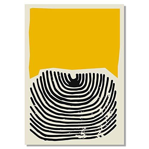 No frame Moderne Veelkleurige Abstracte Geometrische Muur Canvas Schilderij Foto Posters en Prints Galerij Kinderkeuken Home Decor 50x60cm