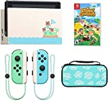 2020 Newest Special Edition Nintendo Switch Animal Crossing: New Horizons Game + Console + Woov Animal Crossing Leaf Travel Carry Sleeve Case