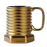 New Ceramics Milk Mug Screw Water Cup Office Coffee Set Gift Christmas Cups