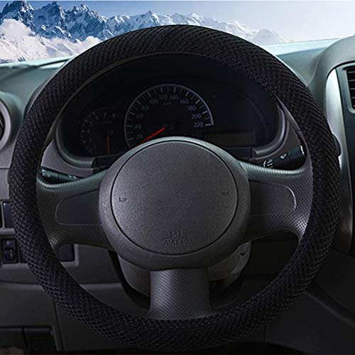 ZHOL Universal 15 inch Steering Wheel Cover, Breathable,...