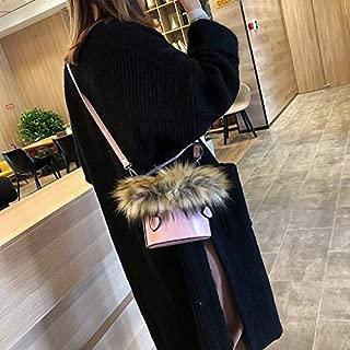 LAGNZ Single Shoulder Bags Leisure Fashion PU Leather Slant Shoulder Bag(Black)