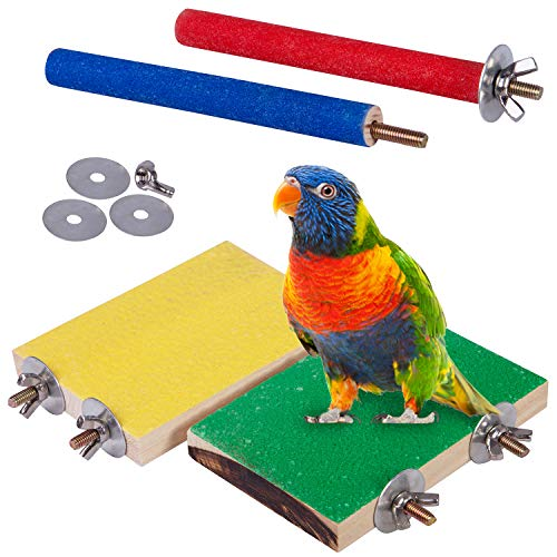 Small and Medium Parrots Cage Perch with High Quality Quartz Sand Surface