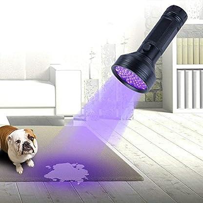 UV Flashlight Black Light, WJZXTEK 68 LED 395nm Ultraviolet Blacklight Detector for Dog Urine,Dry Stains,Bed Bug, Matching with Pet Odor Eliminator(Batteries Not Included) 7