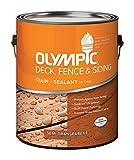 Olympic Deck/Fence/Siding Oil Stain Acrylic Neutral Base Semi Transparent 1 Gl Voc