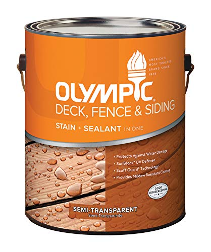 Olympic Deck/Fence/Siding Oil Stain Acrylic Neutral Base Semi Transparent 1 Gl Voc -  PPG-OLYMPIC/DEFT, 58800A/01