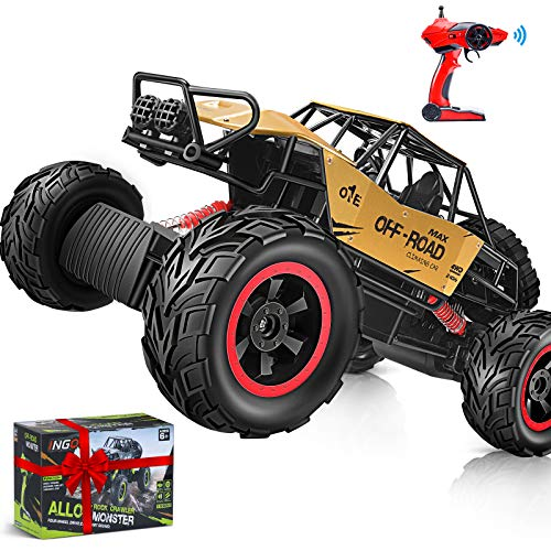 RC Cars, 1:12 Remote Control Trucks Alloy Shell 4WD Dual Motors Monster Truck All Terrain Off Road Rock Crawler 2.4G Hobby RC Truck 7.2V Battery for Boys Girl Adults