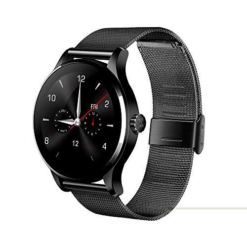 CITW Bluetooth Smart Watch MTK2502 Sprachsteuerung Smartwatch Die Wasserdichte Uhr Mit Leistungsstarkem Batterie-Pedometer,Black