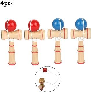 Joyibay 4PCS Bola De Kendama Japon Tradicion Creativa Juego De Fiesta De Juguete Rompecabezas De Madera De Juguete