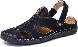 Fashion Convenience Men's Summer Sports Sandals Superfine Fiber Leather Portable Outdoor Slippers Vegetarian Anti-skid Bel...