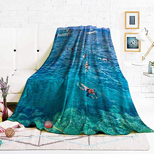 Lovesex Picnic Blanket Florida Keys 80 x 60 inch Blue Blanket Soft blanke Queen Size